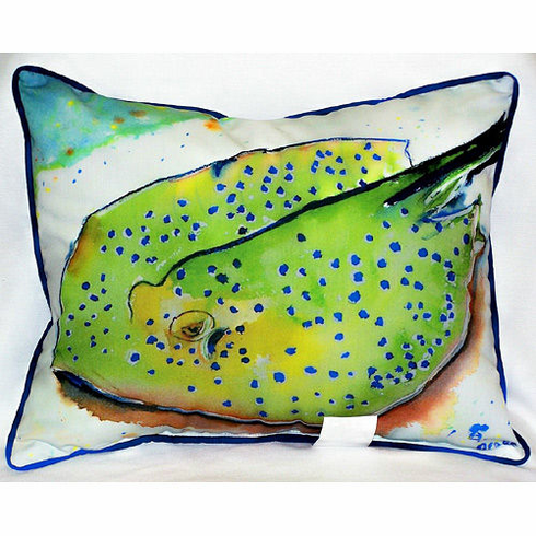 Stingray Indoor and Outdoor Pillow