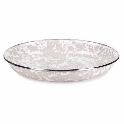 Taupe Swirl Pasta Plate - set of 4