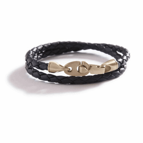 The Journey Leather Double Wrap Rope Bracelet