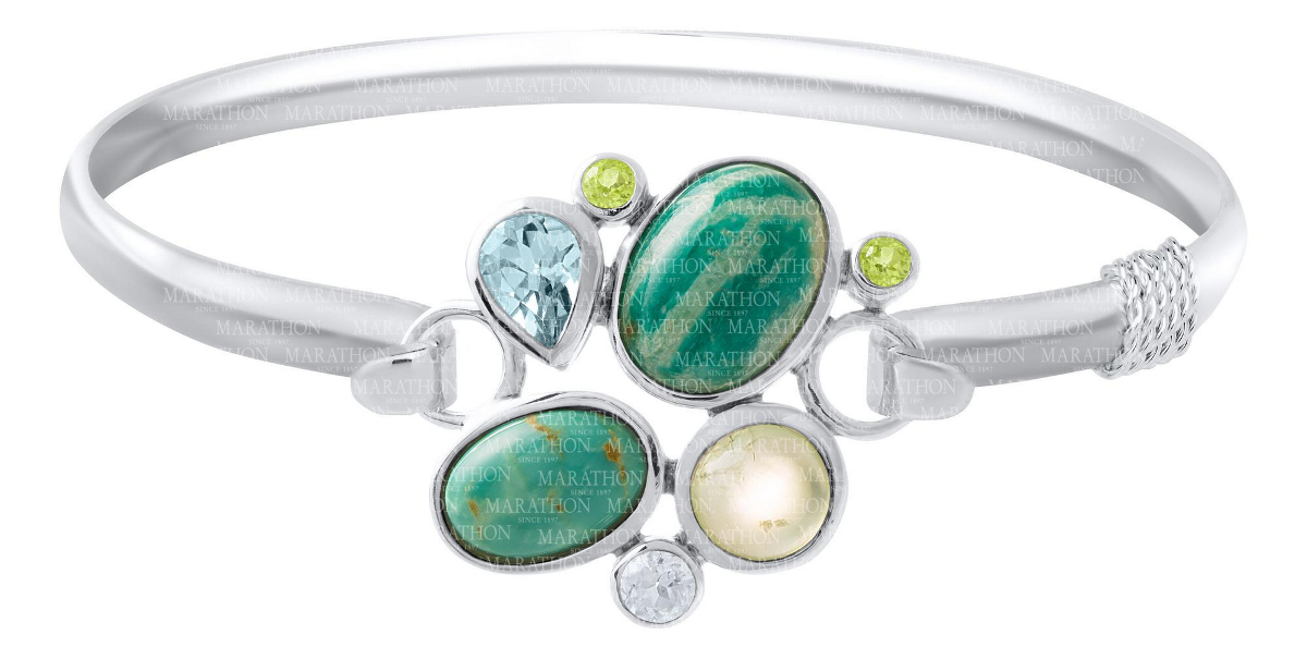 Turquoise Rock Garden Convertible Clasp - Click to enlarge