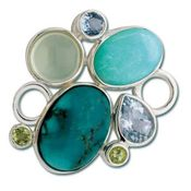 Turquoise Rock Garden Convertible Clasp