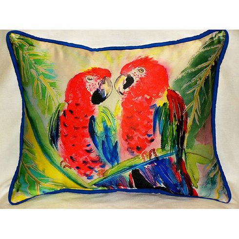 Two Parrots Indoor and Outdoor Pillow