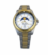 Two-Tone White Nautical Analog Tide Watch
