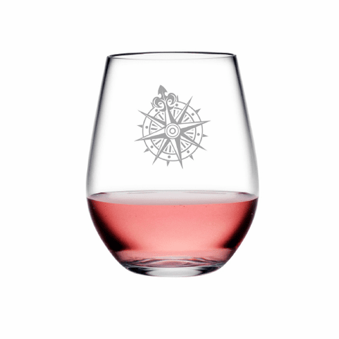 Voyager Compass Tritan Shatterproof Stemless Wine Tumblers