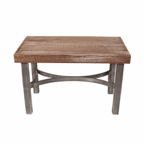 Weathered Grey Slat Bench