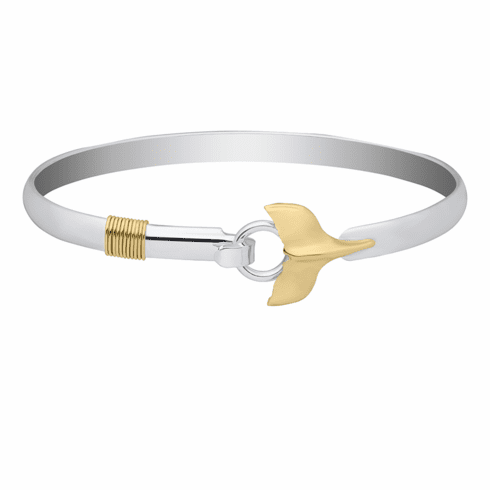 Whale's Tail with Rope Bracelet-Sterling & 14K Yellow Gold