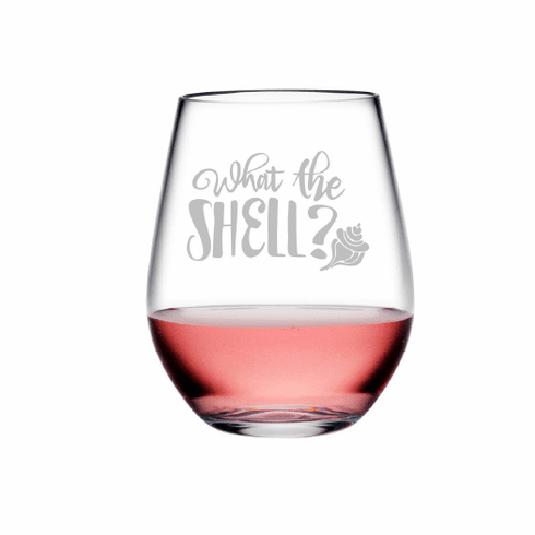 What The Shell Tritan Shatterproof Stemless Wine Tumblers