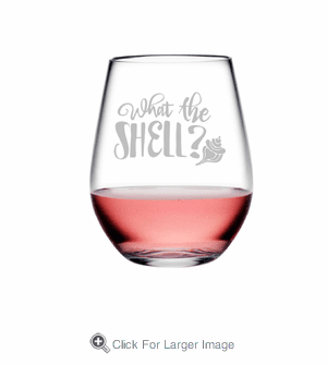 What The Shell Tritan Shatterproof Stemless Wine Tumblers - Click to enlarge