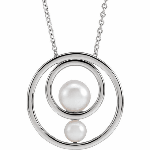 White Akoya Cultured Pearl Hold You Forever® Necklace