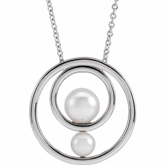 White Akoya Cultured Pearl Hold You Forever� Necklace