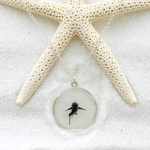 White Shark Round Necklace