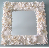 White Seashell Mirror
