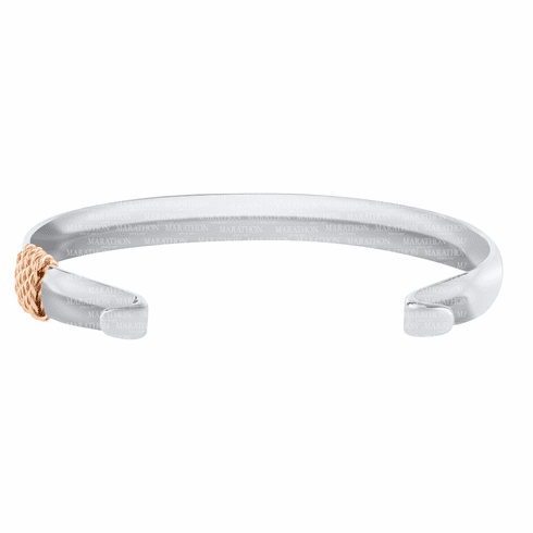 Wide Convertible Bracelet with Rose Gold Wrap