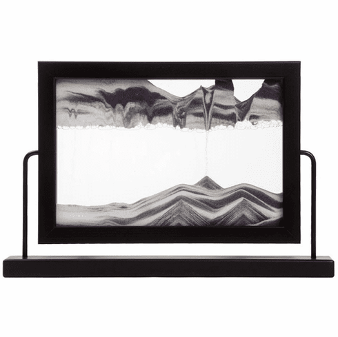 Window Black  Moving Sand Art