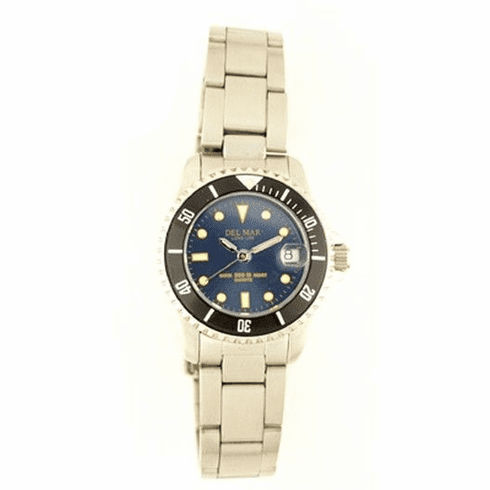Women's Classic Blue Dial Stainless Steel Watch
