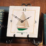 Wooden Boat Clock