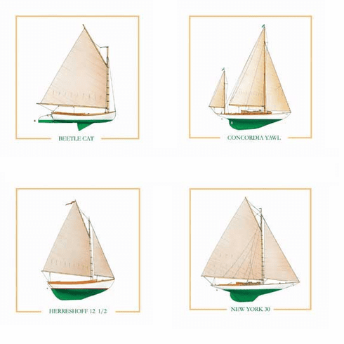 Wooden Boat Series I Coasters