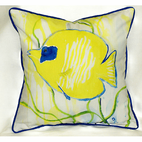 Yellow Tang Indoor and Outdoor Pillow
