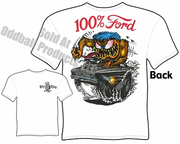 100% Ford Rat Fink Tshirt 65 Falcon Ed Roth Clothes Big Daddy Tee