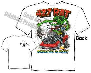427 Rat Fink Tshirt 67 1967 Corvette Ed Roth Clothes Big Daddy Tee