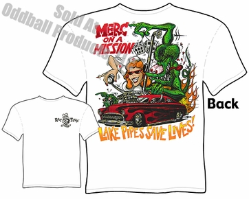 49 50 51 Mercury Rat Fink T Shirt Merc On Mission Ed Big Daddy Roth Tee