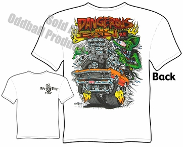 67 Chevelle Rat Fink T Shirt Dangerous But Bad Big Daddy Ed Roth Tee