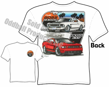 Boss Mustang T Shirt 1969 Ford Tee The Boss Is Back Clothing