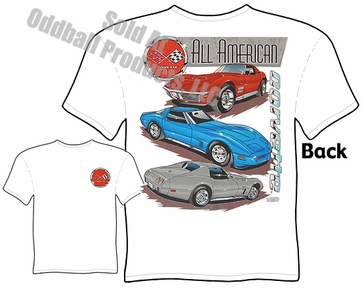 C3 Corvette T Shirt 68-82 Vette Tee All American Chevrolet Clothing