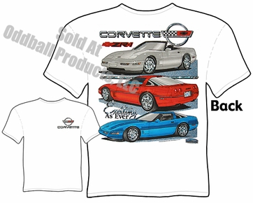 C4 Corvette T Shirt 84-96 Vette Apparel Exciting Tee