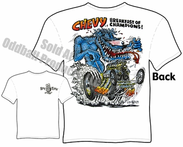 Chevy Breakfast Rat Fink T Shirt Big Daddy Clothes Ed Roth Tee