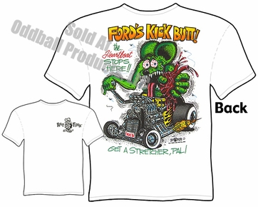 Fords Kick Butt Rat Fink Tshirt 1932 Hot Rod Tee Ed Roth Clothing