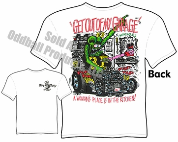 Get Out Of Garage Rat Fink T Shirt Ed Roth Apparel Big Daddy Tee