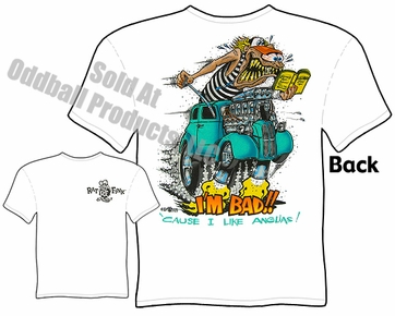 I Like Anglias Rat Fink Tshirt Big Daddy Clothing Gasser Ed Roth Tee
