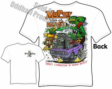 King Of HEMI'S Rat Fink T Shirt Mopar Ed Roth Shirts Big Daddy Tee