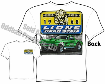 Lions Drag Strip T Shirt 65 66 Corvette Stingray Tee Vintage Drag Racing Shirt