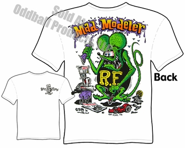 Mad Modeler Rat Fink Tshirt Big Daddy Tee Ed Roth Clothing
