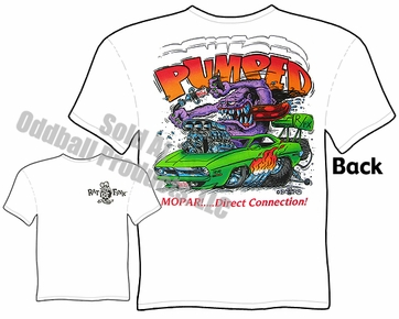 Mopar Rat Fink T Shirt Pumped Big Daddy Tee 70 Cuda Ed Roth Shirt