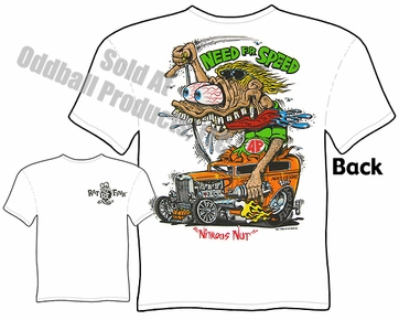 Need For Speed Rat Fink T Shirt 1932 Ford Big Daddy Clothing Ed Roth Tee