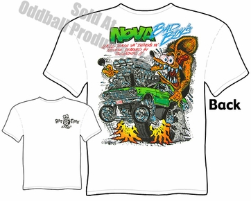 Nova Bad Boys Rat Fink T Shirt 62 63 64 Chevy Big Daddy Ed Roth Tee