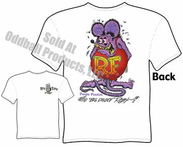 Purple Passion Rat Fink Tshirt Big Daddy Tee Ed Roth Signature Apparel