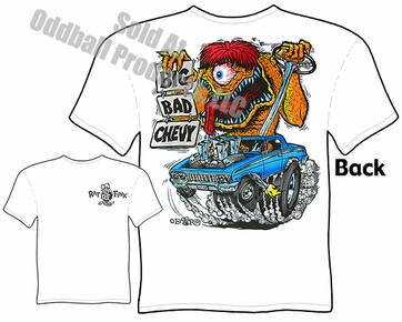 62 Chevy Impala Rat Fink T shirt Big Bad Ed Big Daddy Roth Tee