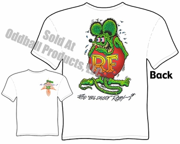 Signature Rat Fink T Shirt Ed Roth Big Daddy Apparel