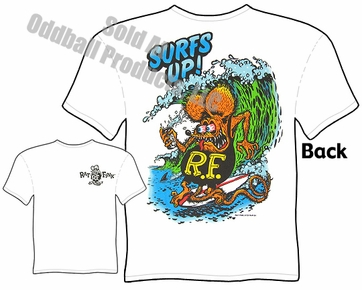 Surfs Up Rat Fink T Shirt Big Daddy Clothing Ed Roth Tee