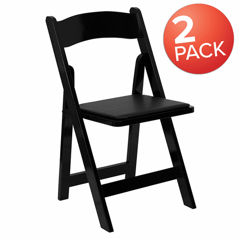 Groovy 2 Pack Hercules Black Wood Folding Chair With Vinyl Padded Seat 2 Xf 2902 Bk Wood Gg Pdpeps Interior Chair Design Pdpepsorg