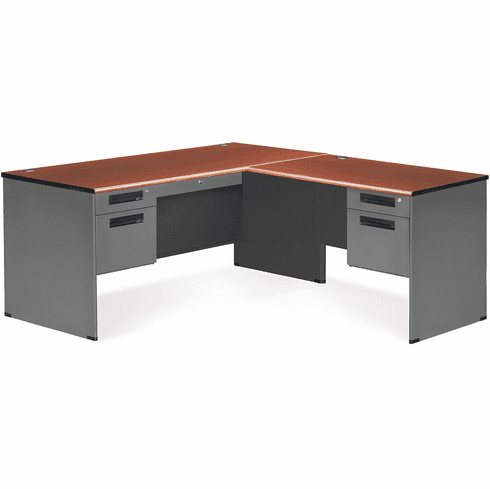 30X67 Panel End Desk Double Pedestal with Right Return [77366-R]