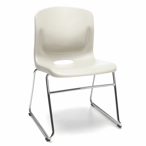 4 Pack Sled Base Chairs with Lumbar Support [315-4PK]