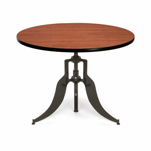 "Adjustable Height Table Dark Vein Base 42"" Round Top [AT42RD]"