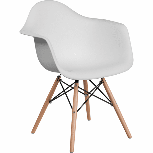 Super Alonza White Plastic Chair With Wooden Legs Fh 132 Dpp Wh Gg Bralicious Painted Fabric Chair Ideas Braliciousco