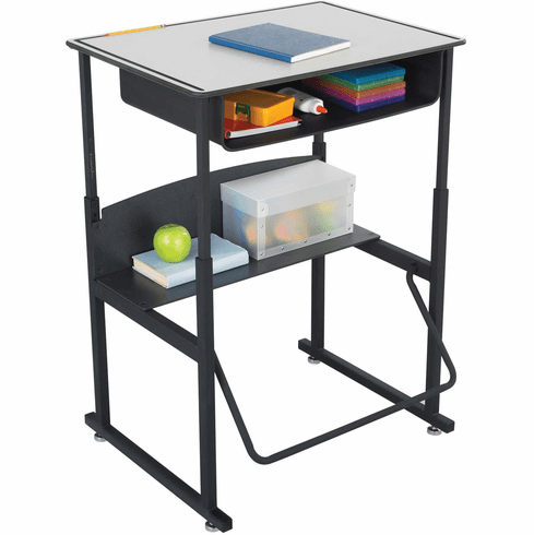 "AlphaBetter® Desk with Book Box Premium Top 28"" x 20"" Gray [1204GR]"