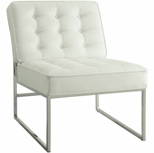 Ave Six Anthony 26� Wide Chair Chrome Base White Faux Leather [ATH51-W32]